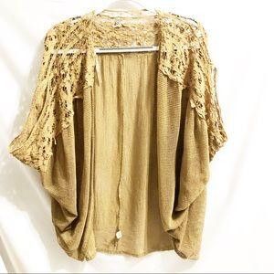BKE by G Kimono Style Drape Lace Cardigan